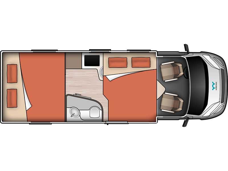 King Bed Floorplan