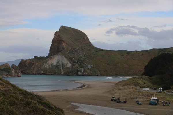 View of one of the peaks at Castlepoint on the Wairarapa coast