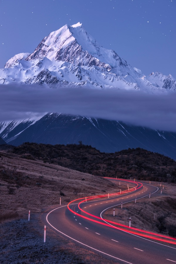 Driving in Mt Cook National Park
