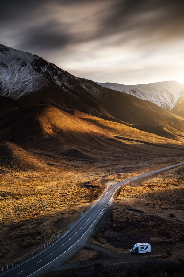 Chrystal Hutchinson's New Zealand camper hire takes her to Lindis Pass