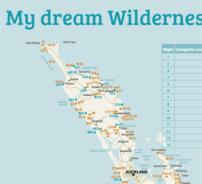 Wilderness Camping Directory Map