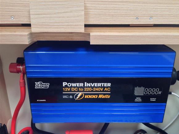 Power inverter for freedom camping