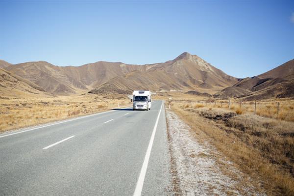 Lindis Pass Road Campervan