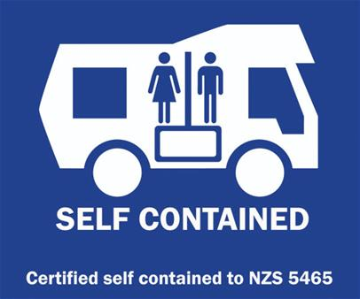 Self-contained Campervan Sign