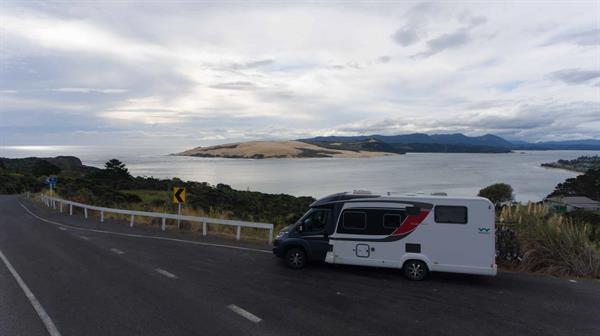 Campervan overlooking Hokianga Harbour