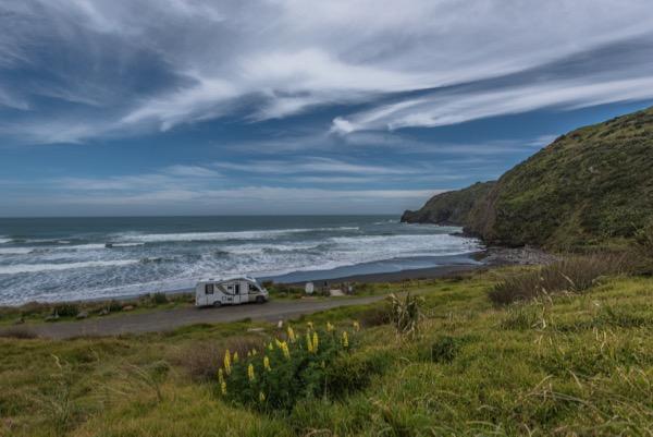 Freedom Camping at Ruapuke Beach NZ