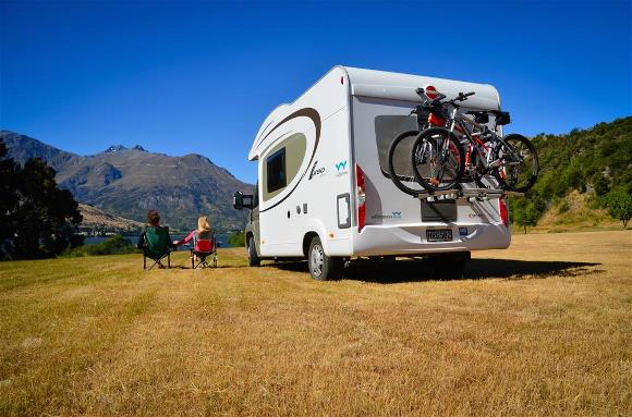 Freedom camping with a motorhome