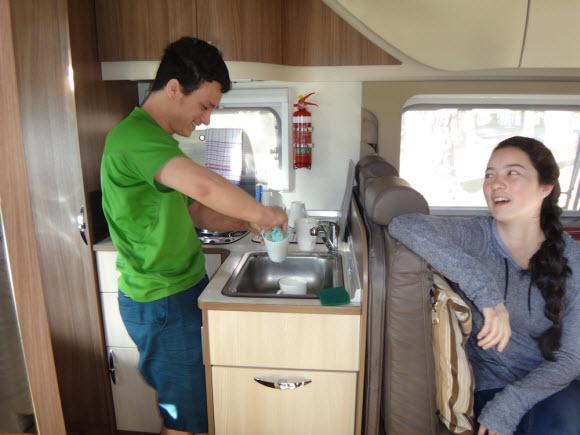 Kids enjoying their New Zealand RV rental