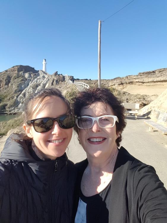 Tina and Maria at Castlepoint