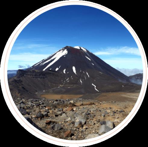 View of Mount Ngauruhoe, North Island