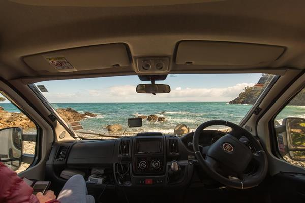 Scenic view of Fantail Bay from an NZ motorhome rental Brent Purcell