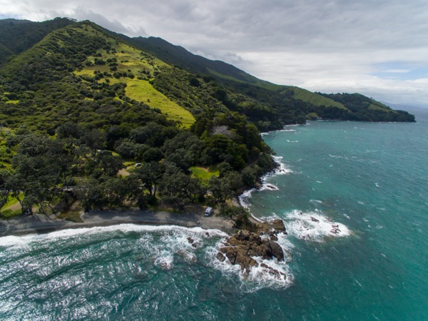 Drone view of Fantail Bay, Coromandel Brent Purcell